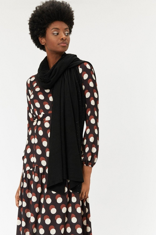 Coast Embellished Black, Black Scarf