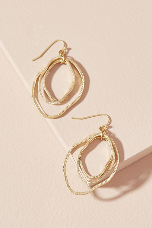 Anthropologie Bethany Hoop Earring