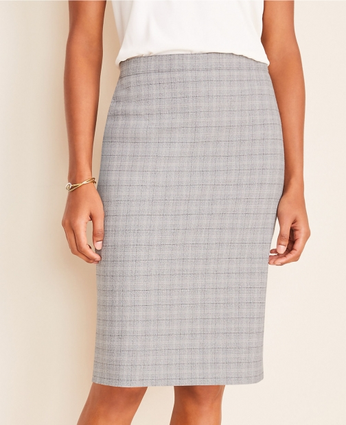 Ann Taylor The Plaid Pencil Skirt