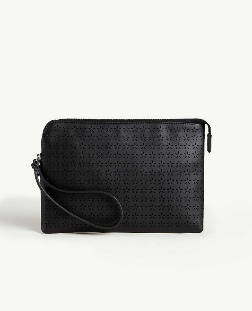 Ann Taylor Perforated Wristlet Clutch