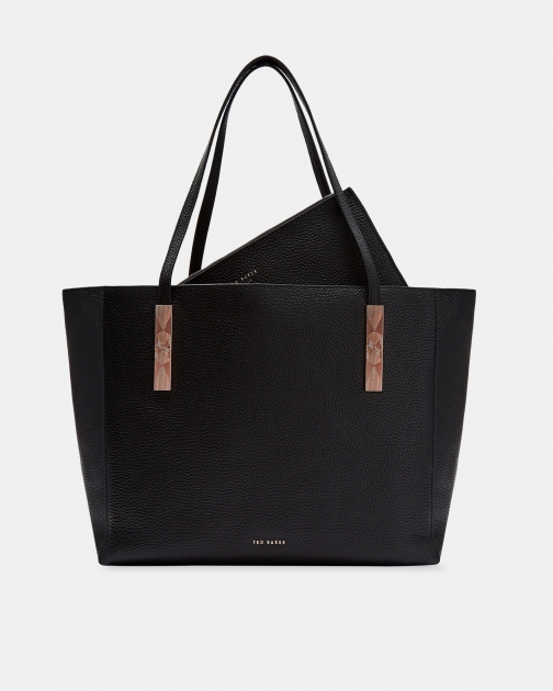 Ted Baker Large Zipped Leather Bag Tote