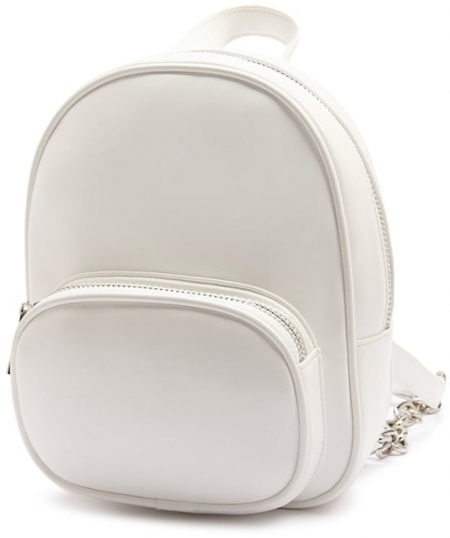 Forever21 Forever 21 Mini Faux Leather White Backpack