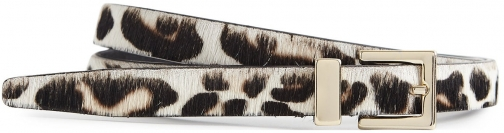 Reiss Blossom - Leather Leopard Patterned Leopard Print, Womens, Size M Belt