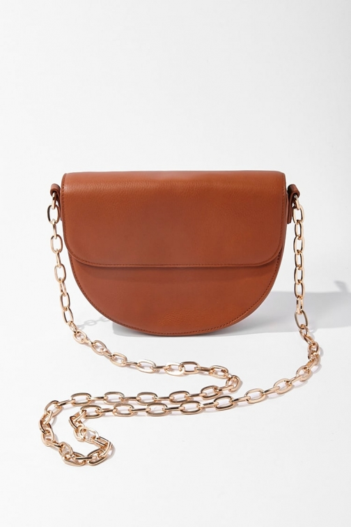 Forever21 Forever 21 Half Moon , Tan Crossbody Bag