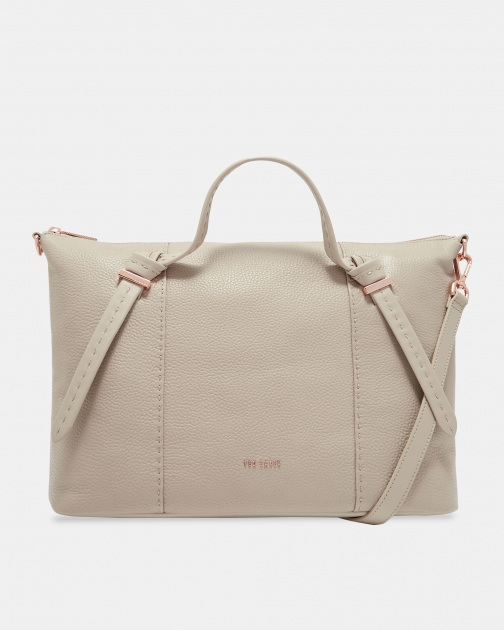 Ted Baker Knotted Handle Large Leather Bag Tote