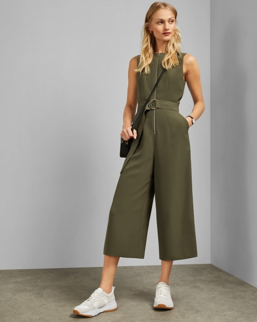 Ted Baker Front Zip Belted Jumpsuit