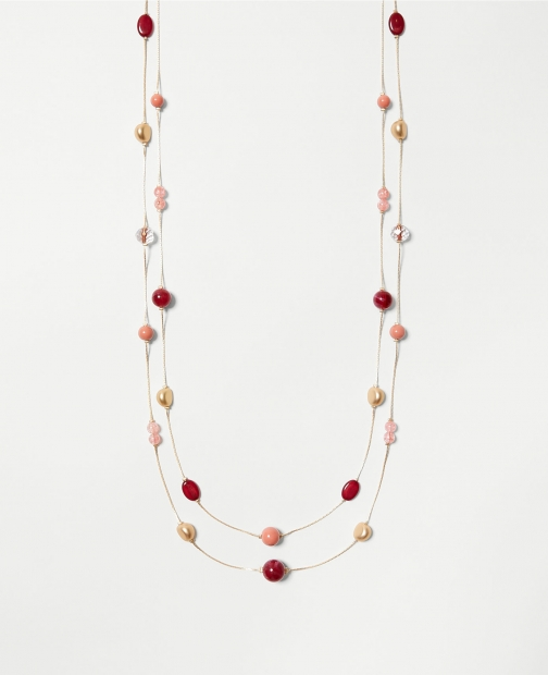 Ann Taylor Factory Stone Layered Illusion Necklace
