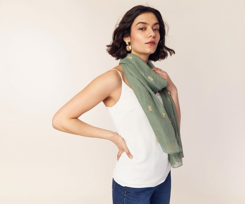 Oasis Pineapple Foil Scarf