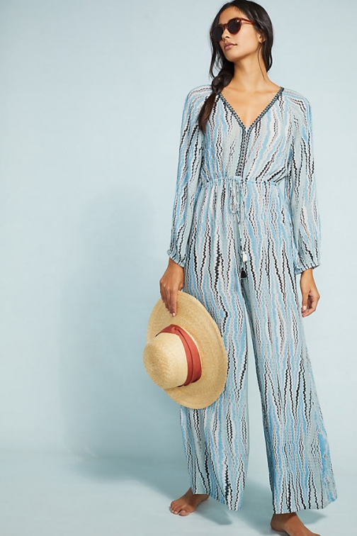 Bl-nk Irveni Striped Beach Jumpsuit