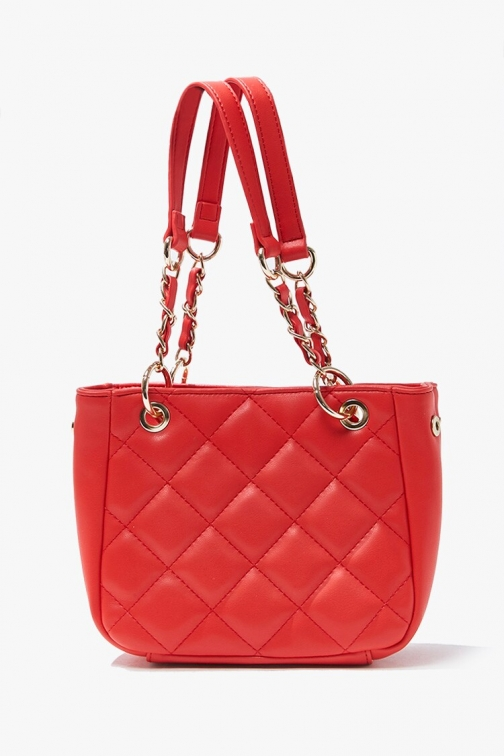 Forever21 Mini Quilted Bag At Forever 21 , Red Tote
