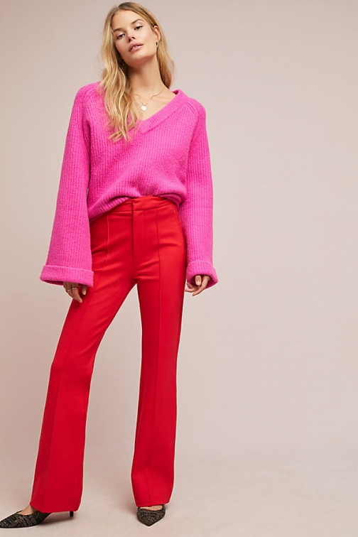 Anthropologie The Essential Pintucked Trousers Trouser