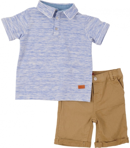 7 For All Mankind Men's Boy's 12M-24M Set Heather Blue Short