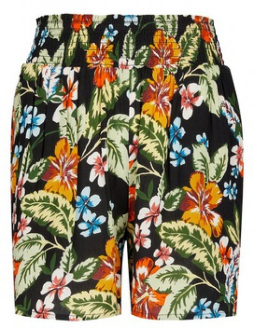 Dorothy Perkins Black Tropical Print Short