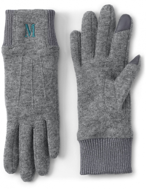 Lands' End Women's EZ Touch Screen - Lands' End - Gray - S Glove