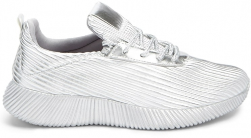 Forever21 Forever 21 Qupid Metallic Sneakers Silver Trainer