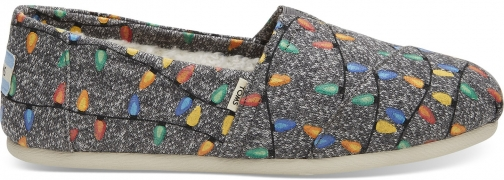 Toms Charcoal Glow The Dark Tree Lights Women's Classics Slip-On Shoes