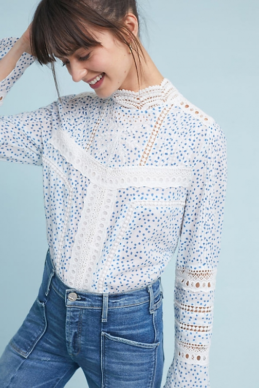 Anthropologie Victoria Laced - Assorted, Size Blouse