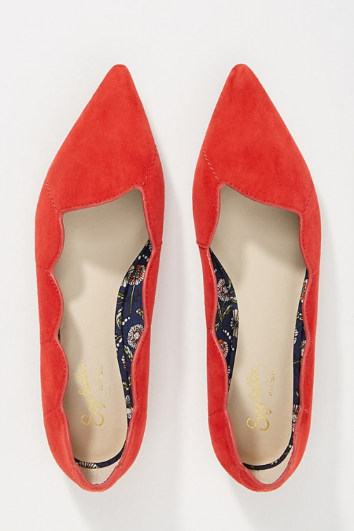 Anthropologie Seychelles Island Scalloped Flats