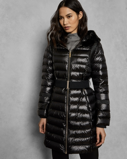 Ted Baker Long Down Coat With Hood Jacket