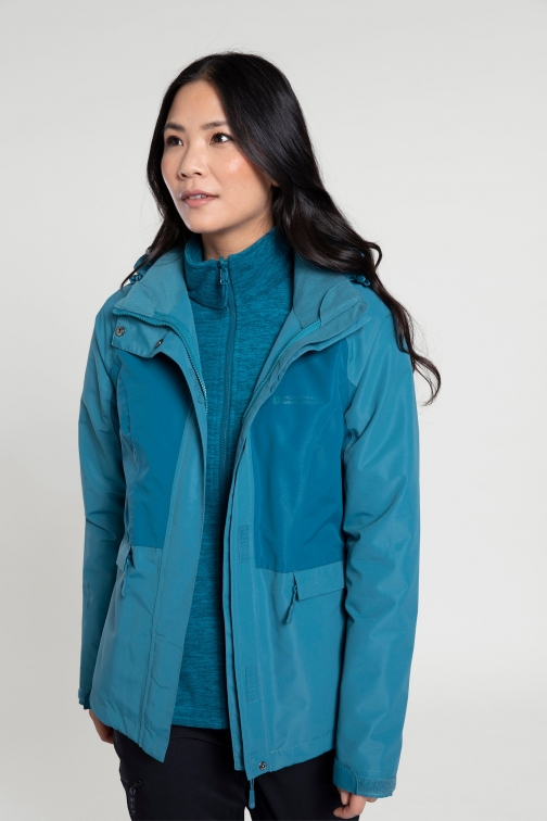 Mountain Warehouse Thunderstorm 3--1 Womens - Teal Jacket