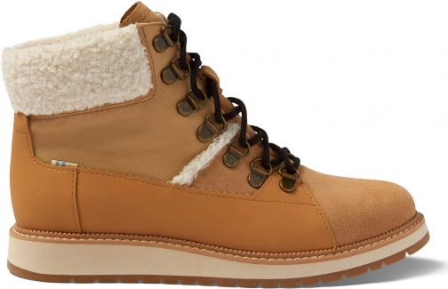 Toms Waterproof Desert Tan Suede And Leather Women's Mesa Boot