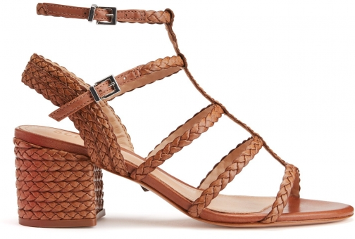 Schutz Shoes Rosalia Sandal - 8.5 Deep Nude Leather Sandals
