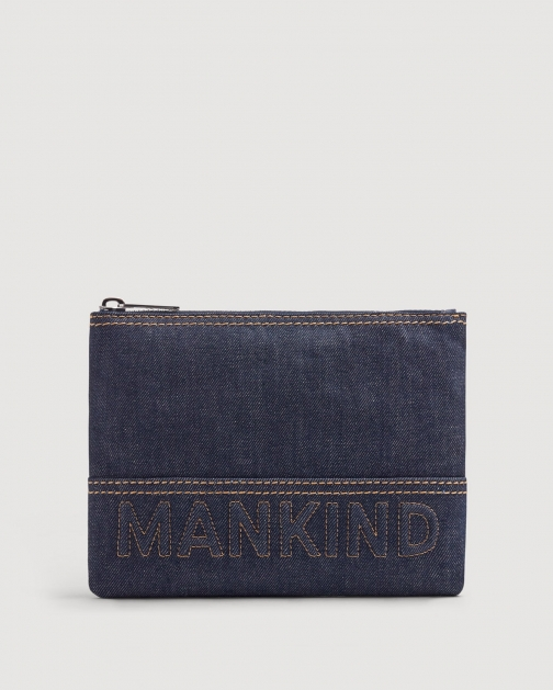 7 For All Mankind Small Mankind Denim Clutch
