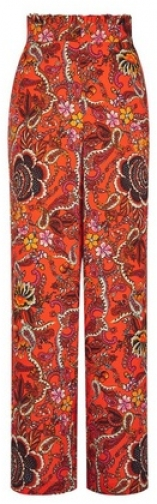 Dorothy Perkins Red Paisley Print Palazzo Trousers Trouser