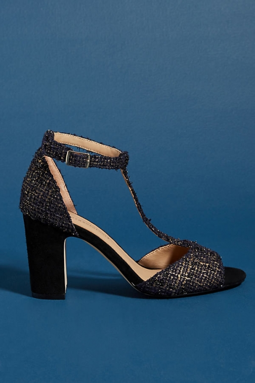 Anthropologie T-Strap Heels Heeled Sandals