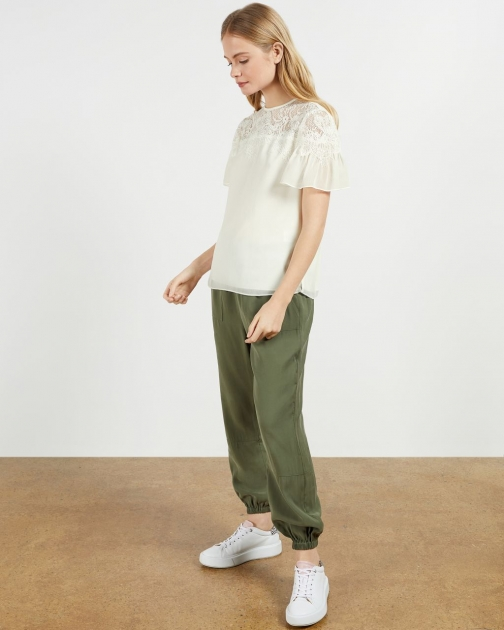 Ted Baker Lace Panel Woven T-Shirt
