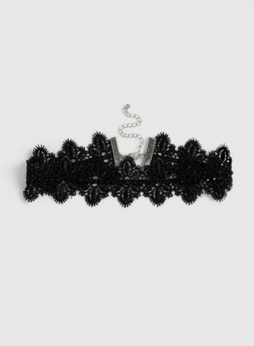 Dorothy Perkins Black Embellished Lace Chokers