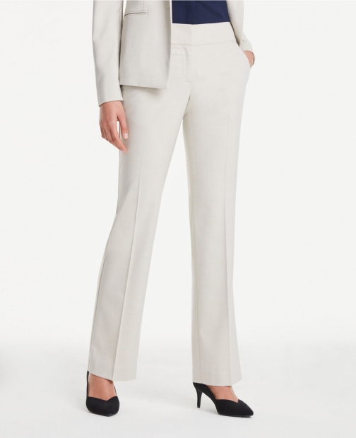 Ann Taylor Curvy Pants Neutral Trouser