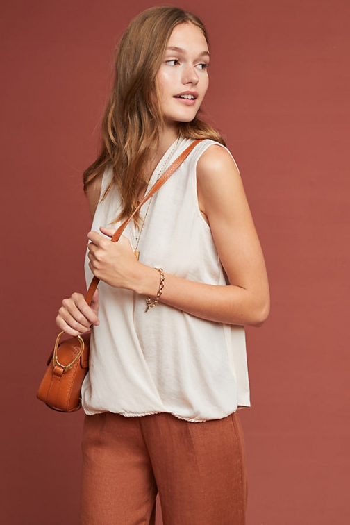 Pure + Good Sleeveless Surplice Top Sock