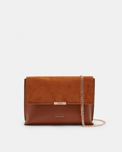 Ted Baker Bar Detail Leather Cross Body Bag Crossbody Bag