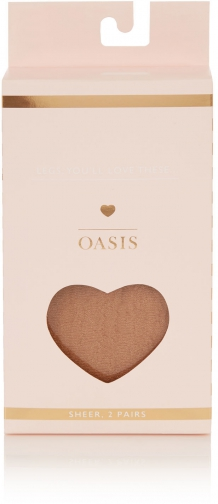 Oasis SHEER 2 PACK Tight