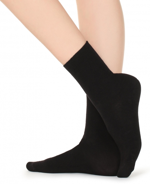 Calzedonia - Short With Cashmere, ONE SIZE, Black, Women Sock