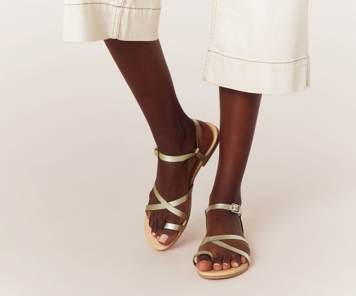 Oasis Leather Strappy Sandals