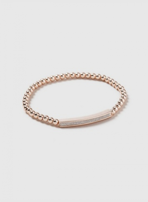 Dorothy Perkins Rose Gold Glitter Bar Wristwear Jewellery