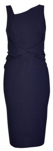 Luxe Navy Manipulate Crepe Bodycon Dress