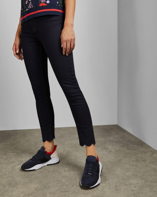 Ted Baker Dark Wash Embroidered Jeans