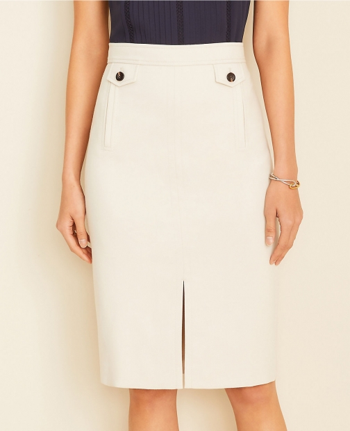 Ann Taylor Button Pocket Pencil Skirt