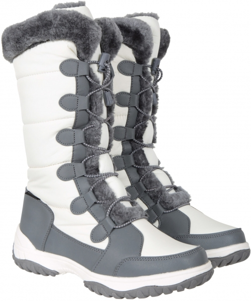 Mountain Warehouse Snowflake Womens Long - White Snow Boot