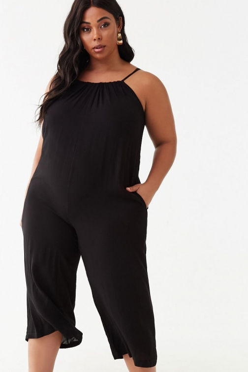 Forever21 Plus Forever 21 Plus Size Cami , Black Jumpsuit