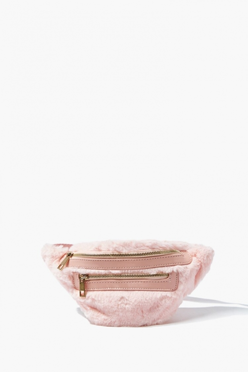 Forever21 Faux Fur At Forever 21 , Pink Fanny Pack