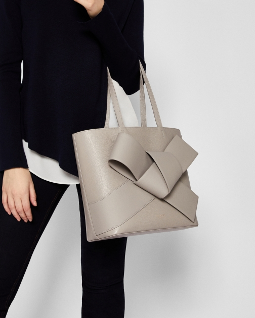 Ted Baker Giant Knot Leather Shopper Bag