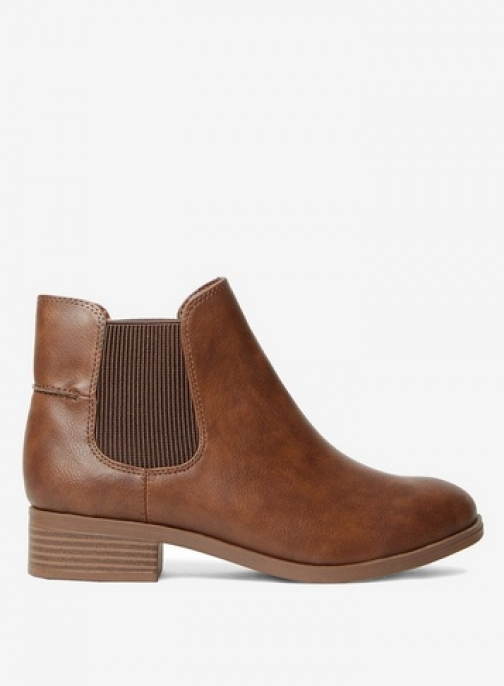 Dorothy Perkins Womens Wide Fit Tan 'Monty' - Brown, Brown Ankle Boot