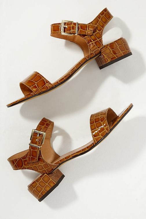 Indi & Cold Cuero Snake-Effect Leather Sandals