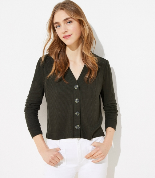 Loft Cropped Top Cardigan