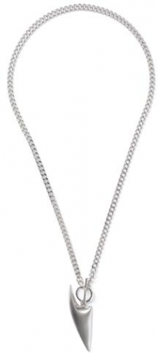 Topman Mens Silver Look T-Bar Chunky Chain *, SILVER Necklace