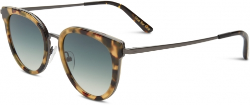 Toms Rey Blonde Brown With Olive Green Gradient Lens Sunglasses